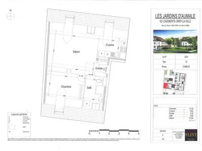 Vente Appartement 2 pièces 47m² Orry-la-Ville (60560) - Photo 2