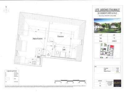 Vente Appartement 2 pièces 41m² Orry-la-Ville (60560) - Photo 2